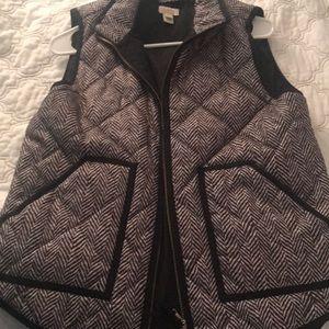 NWOT JCREW Herringbone Vest